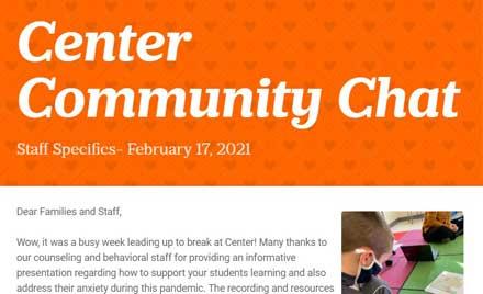 Chelmsford Center School Community Chat Newsletter