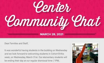 Chelmsford Public Schools Center Community Chat Newsletter March 28, 2021